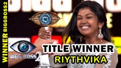 Title Winner of Bigg Boss2, Riythvika