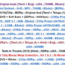 Tamilrockers site