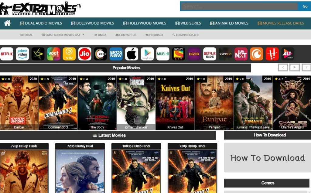 extramovies website