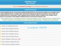 Isaidub 2020 Download Free Hd Latest Tamil Dubbed Movies Is It Legal