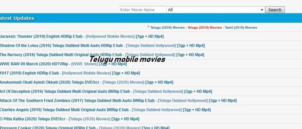 Telugu mobile movies site
