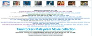 Tamilrockers malayalam website
