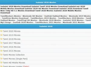 isaimini movies 2020